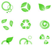 Eko-symbols. Green elements for green designs Royalty Free Stock Image