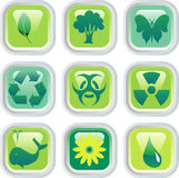Ekobuttons. Vector buttons for environmental protection Royalty Free Stock Photography