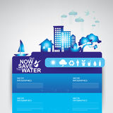 Ekologi för begrepp för räddningvattenvektor Royaltyfri Fotografi