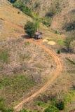 Ekologi, global uppvärmning och skogsavverkning, skogsbränder, torka Arkivbilder