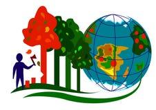 Ekologi Infographic 1 Arkivfoto