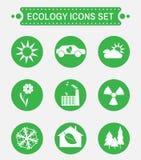Ekologi Logo Vector Icons Set Royaltyfri Foto