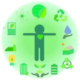 Ekologi- och gräsplanenergisystem Fotografering för Bildbyråer