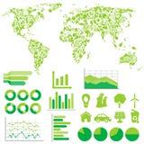 Ekologi- och miljöinfographics Fotografering för Bildbyråer