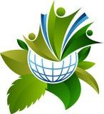 Ekologia światu logo ilustracji