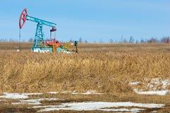 Ekologia, bionomics dzień Czerwiec Kazakhstan miesiąc olej pompuje western Przemysł paliwowy equipment Belkowata pompa obrazy royalty free