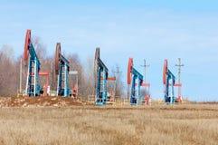 Ekologia, bionomics dzień Czerwiec Kazakhstan miesiąc olej pompuje western Przemysł paliwowy equipment Belkowata pompa zdjęcie royalty free