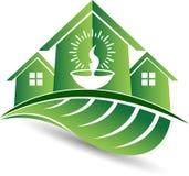 Ekologia domowy logo ilustracji
