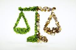 Ekologia i biznes royalty ilustracja