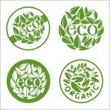 Ekologia i organicznie ikony ustawiający szczegółowego eco ekologiczne środowiskowe wysoce ikony Obrazy Royalty Free