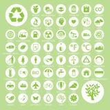 Ekologia i przetwarza ikony, wektor eps10 Obrazy Stock
