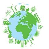 Ekologia i robić zielonemu światowi Zdjęcia Stock