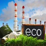 Ekologia i zanieczyszczenie środowiska fotografia stock