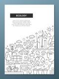 Ekologia - kreskowej projekt broszurki plakatowy szablon A4 Zdjęcie Stock