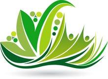 Ekologia medytuje logo ilustracja wektor