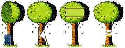Ekologia, natura, drzewo, ilustracja, rysunek, metafora Zdjęcia Stock