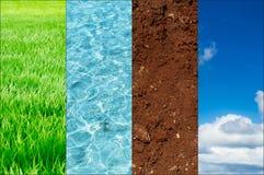 Ekologia natura sztandaru pojęcie ilustracja wektor