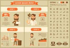 Ekologia projekta Infographic płaski szablon Zdjęcia Royalty Free