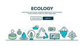 Ekologia, przetwarza, środowisko, trwałość, kolorowy concep ilustracja wektor