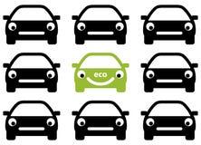 Ekologia samochód Zdjęcia Royalty Free