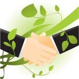 ekologia uścisk dłoni Obrazy Royalty Free