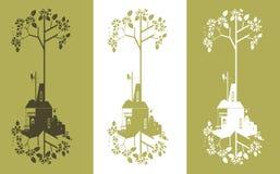 Ekologibakgrund - industriellt begrepp Royaltyfri Bild