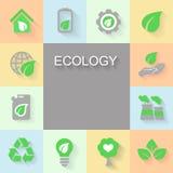 Ekologibakgrund med miljön, grön energi Fotografering för Bildbyråer