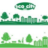 Ekologibegrepp av cityscapes Royaltyfria Foton