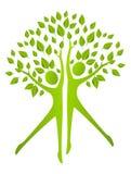 Ekologibegrepp - människadiagram med gröna sidor