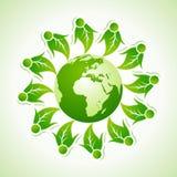 Ekologibegrepp med jordklotet vektor illustrationer