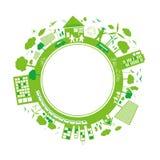 Ekologibegreppsdesign stock illustrationer