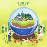 Ekologibegreppsdesign Royaltyfri Bild
