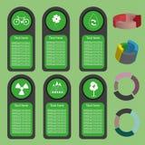 Ekologiczna biznes zieleń infographic z ikonami i 3d sporządza mapę, płaski projekt Fotografia Royalty Free