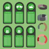 Ekologiczna biznes zieleń infographic z ikonami i 3d sporządza mapę, płaski projekt Fotografia Stock