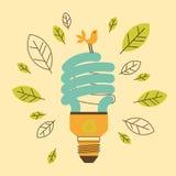 Ekologiczna oszczędzanie lampa Fotografia Stock