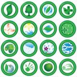 ekologiczne ikony Fotografia Stock