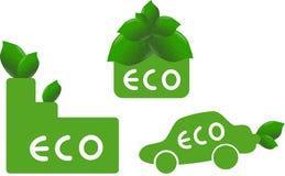 Ekologiczne ikony Obrazy Royalty Free