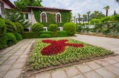 Ekologiczni budynki fasadowi i parkowi. Crimea Obraz Royalty Free