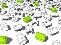 ekologiczni zieleni domy Obrazy Stock