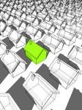 ekologiczni zieleni domy Zdjęcie Stock