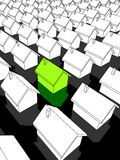 ekologiczni zieleni domy Obrazy Royalty Free