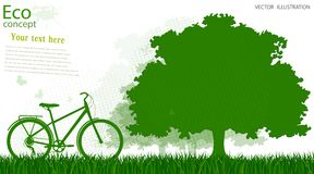 Ekologicznie życzliwy świat ilustracja wektor