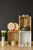 Ekologiczny DIY drewniany meblarski pomysł zdjęcia stock