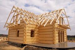 ekologiczny domowy drewniany Obraz Stock