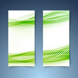Ekologiczny nowożytny abstrakcjonistyczny swoosh sztandar Obraz Stock