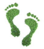 Ekologiczny odcisk stopy Zdjęcia Royalty Free