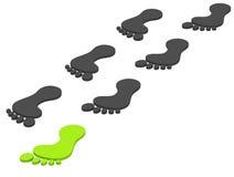 Ekologiczny odcisk stopy Obraz Stock