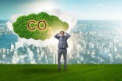Ekologiczny pojęcie emisja gazów cieplarnianych zdjęcia royalty free