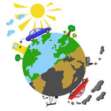 Ekologiczny pojęcia infographics Fotografia Stock