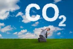 Ekologiczny poj?cie emisja gaz?w cieplarnianych obraz royalty free